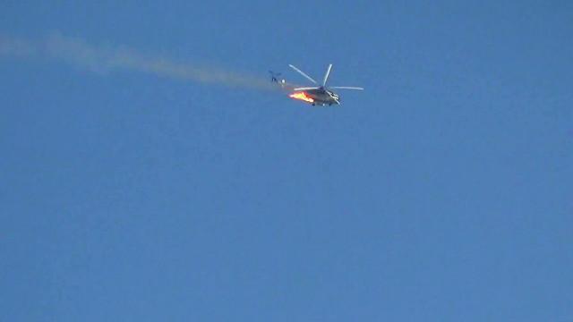 В Сирии военный вертолет столкнулся с пассажирским лайнером.