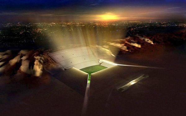 Стадион, который построят  в песках
