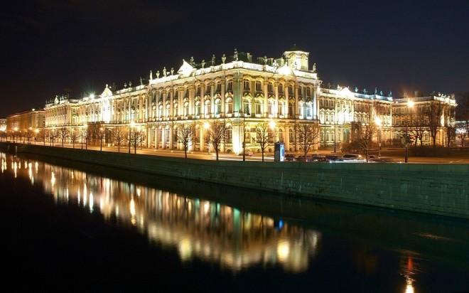 Ночной город Санкт-Петербург