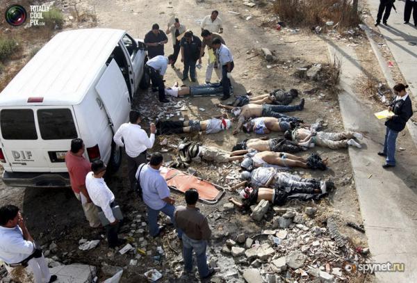Тела 17 убитых найдены на дороге в Мексике.