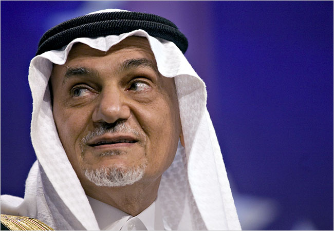 В Давосе Саудовский принц не отрицал поставки оружия сирийским оппозиционерам