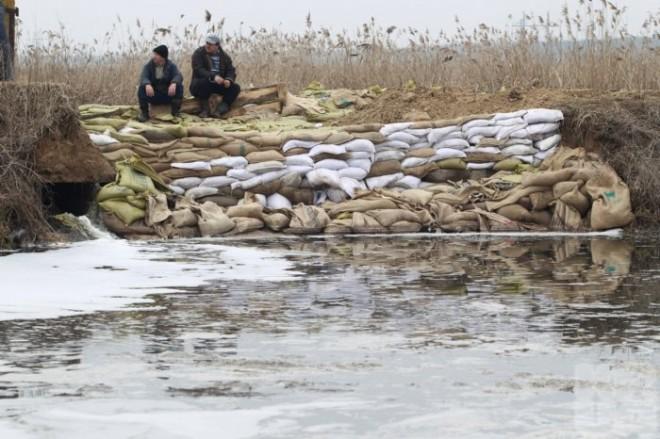 Мэр Гнедина: «Весь дренаж из Бортнической станции заливает села и направляется в Днепр»