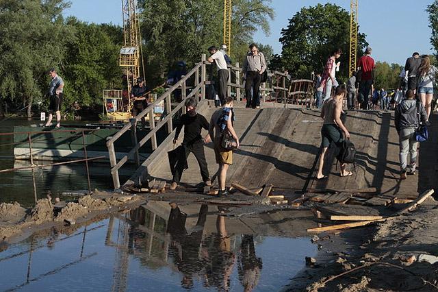 Затопление Киева происходит из-за сброса воды Россией и Белоруссией
