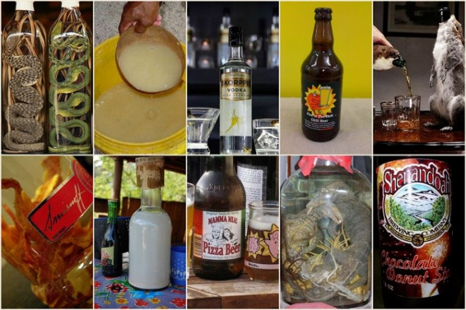 Самые необычные и пикантные алкогольные напитки в мире.