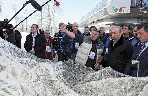 Побывав на олимпийских объектах Путин, потребовал напрячь силы и работать