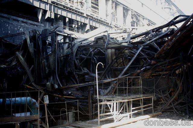 Министр энергетики и угольной промышленности: «Причины пожара на Углегорской ТЭС – самовозгорание».