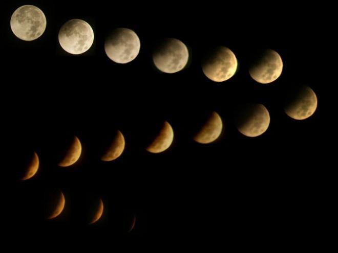 Фотографии Лунного затмения