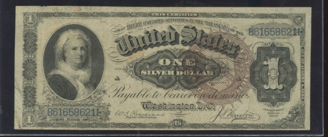 Портрет женщины на долларе