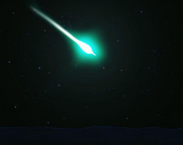 Над США пронесся зеленый метеорит с ярким шлейфом