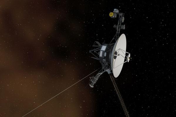 Зонд «Вояджер-1», первый аппарат, покинувший Солнечную систему.