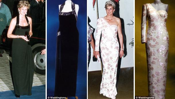 Стоимость нарядов принцессы Дианы ушли с молотка за миллион долларов.