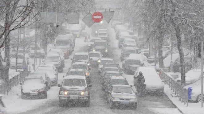 Транспортный Армагеддон на улицах Киева.