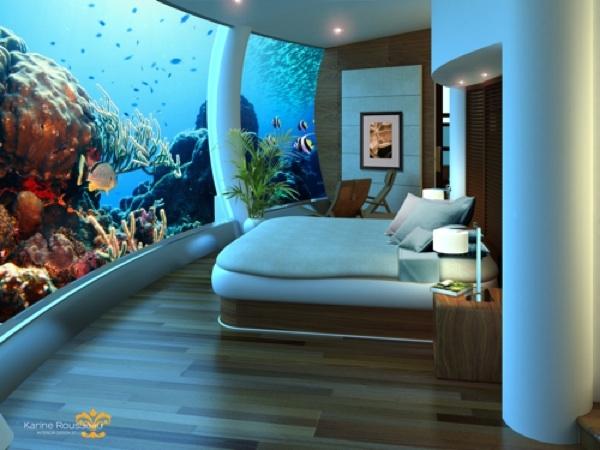 подводный отель  Jules' Undersea Lodge.