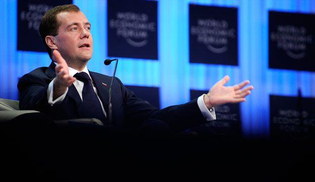 Д. Медведев в Давосе рассказал, в каких он отношениях с Путиным и чем занимался Магнитский в России